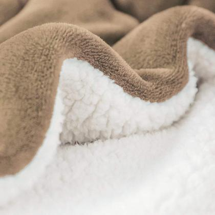 Sherpa Blanket Twin Thick Warm Bla..