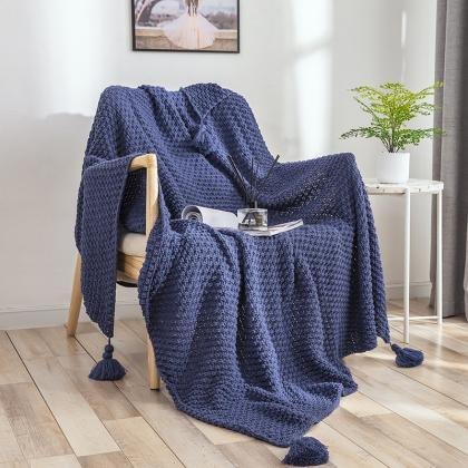 Knitted Throw Blanket(51x67inches),..