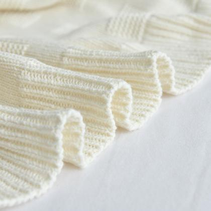Blanket cotton knit blanket air-con..