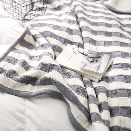 Knit Luxury Polyester Soft Throw Bl..