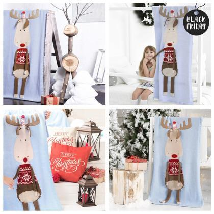 Children's Christmas Deer Wool Quil..