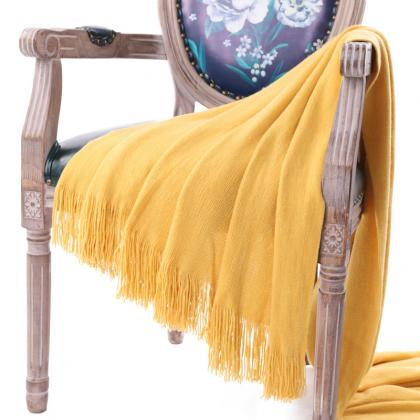 Bedding blanket tassel shawl blanke..
