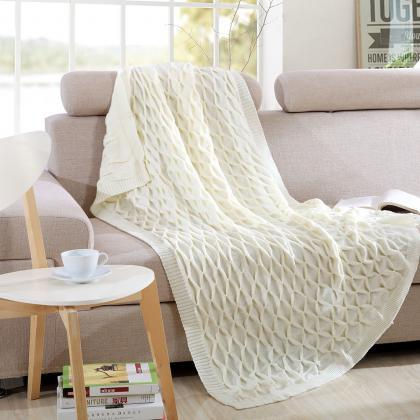 Bedding solid color knit office nap..
