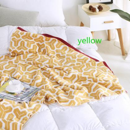 Cotton Knit Throw Blanket for Couch..