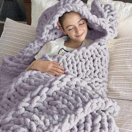 Bedlining Chunky Knit Blanket Throw..