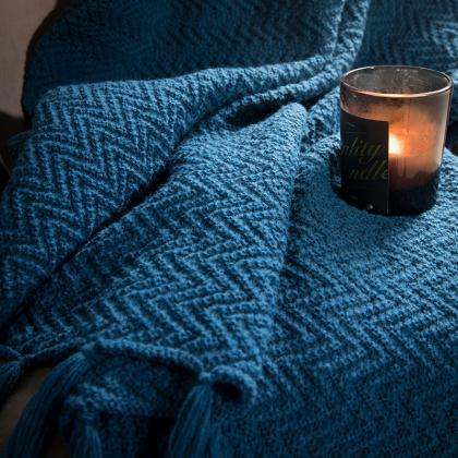 Bedding knitted blanket sofa blanke..