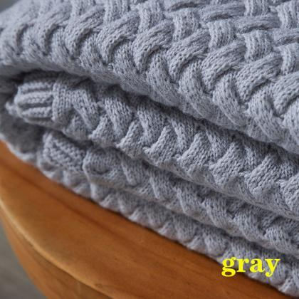 Bedding cover Wool-blend knitted bl..