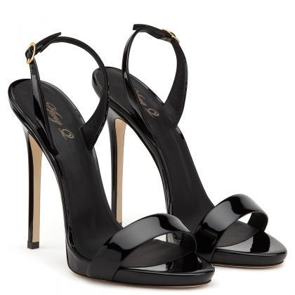 Women's stiletto sandals high heel ..