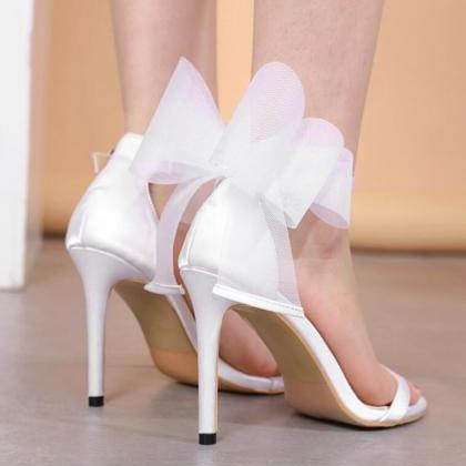 New sexy big bow women's shoes with..
