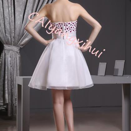Women organza short dress party dre..