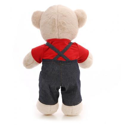 Cute bib bear plush toy doll rag do..