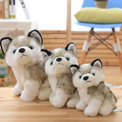 Cute dog simulation husky doll plus..