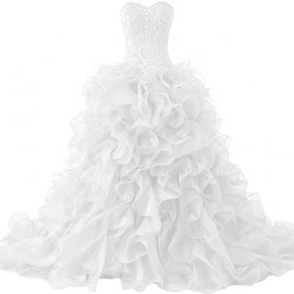 Gorgeous Heavy Beaded Organza Quinc..