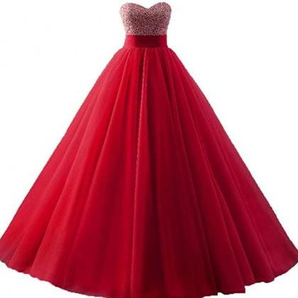 Quinceanera Dresses Tulle Beads Bal..