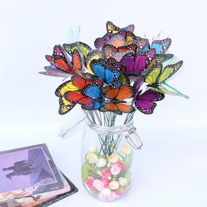 Butterfly Stakes, 50pcs 6.3 inch G..