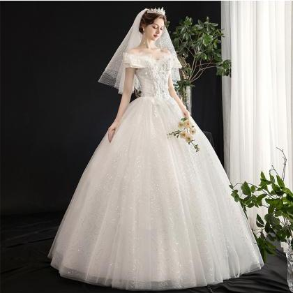 Bridal wedding dress lace champagne..