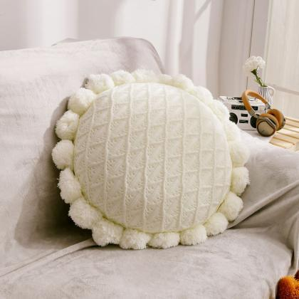 Knitted cushion Nordic design knitt..