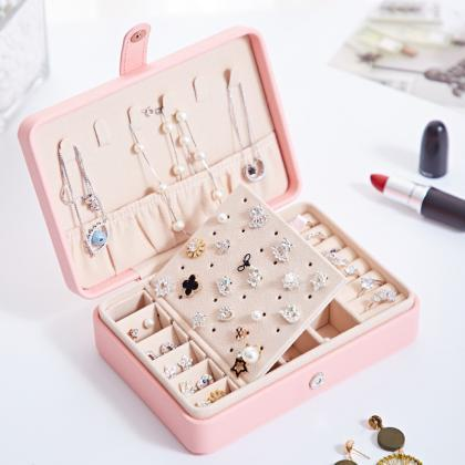 Tense PU Leather Jewelry Box for Wo..