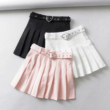 Women's half-length skirt belt deco..