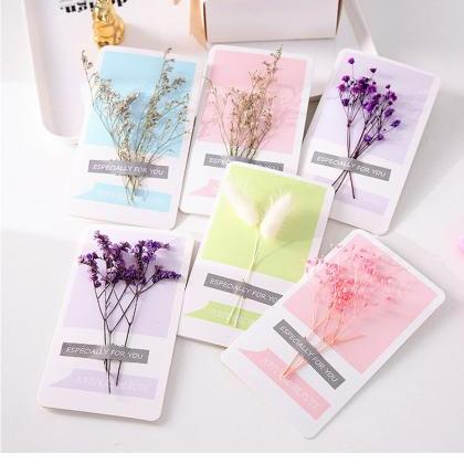 Dried Flowers Greeting Cards, 120PC..