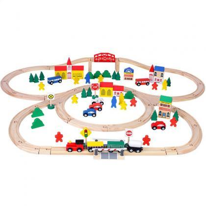Wooden Toys Club Wood Train Set for..