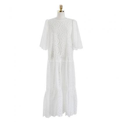 Women's Round neck Floral Lace Wedd..