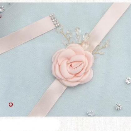 Women's Rhinestone Bridal Belt Ivor..