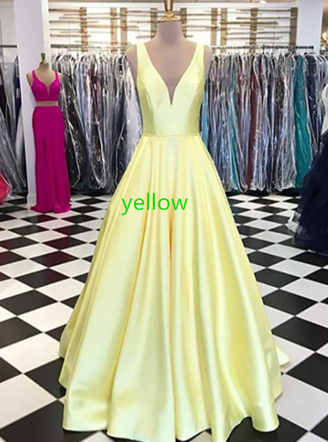 Women's Strapless Beaded Prom Dresses Long A Line Satin Evening Dress Party Gowns with Pockets