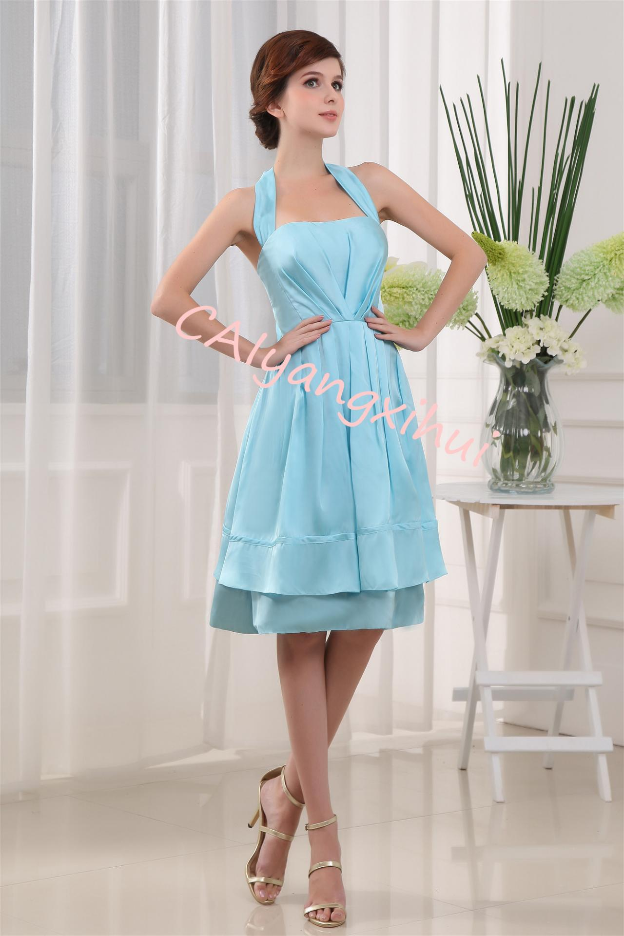 Bridesmaid Dress Short Prom Dresses Satin Evening Party Dress Bridesmaid Dresses