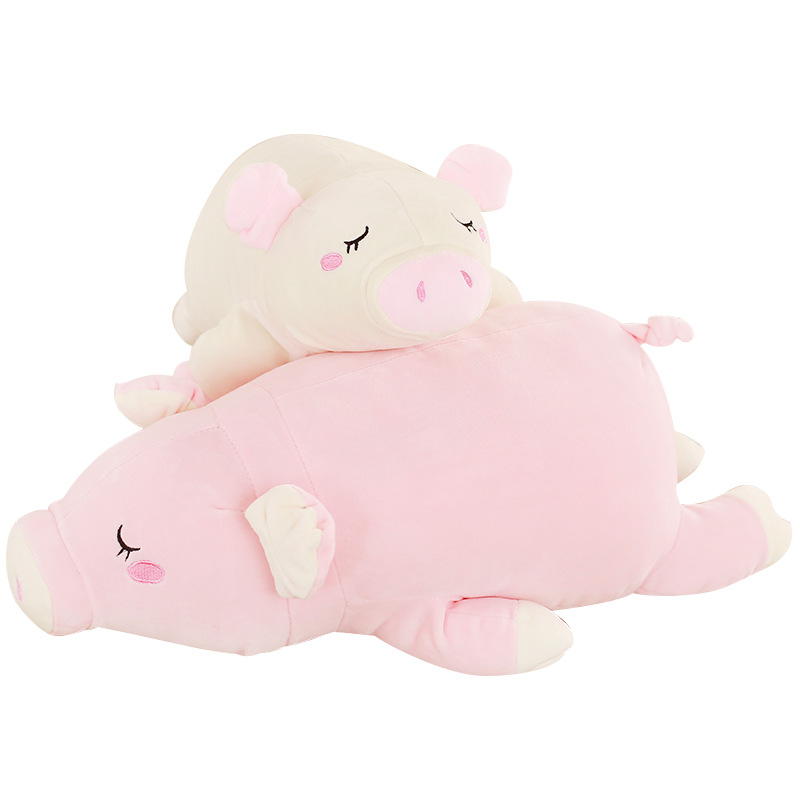 Soft lying pig plush toy pig doll rag doll sleeping pillow lying pig doll birthday gift for girlfriend
