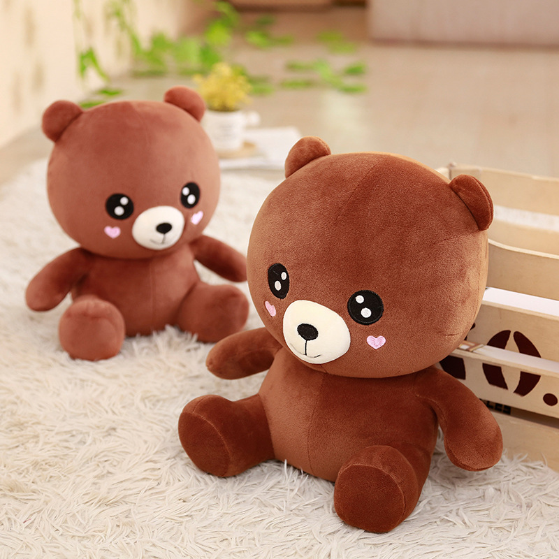 Stuffed Animal Baby Bear Plush Doll Panda Doll Love Brown Bear Doll Gift