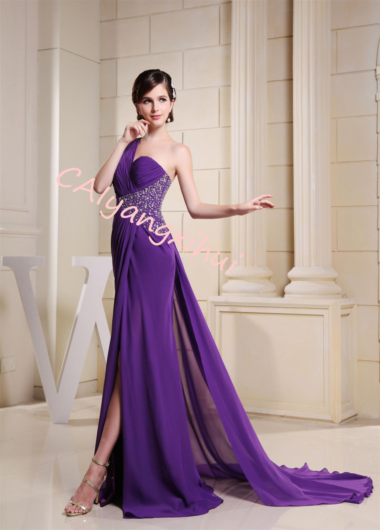Chiffon Prom Party Dress Beauty Pageant Long Dress