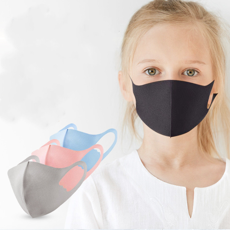 Children's Primary School Students Three-dimensional Tust Mask Ice Silk Cotton Sunscreen Mask Silk Cotton Dust Anti-Haze Breathable Mask 10 Pieces
