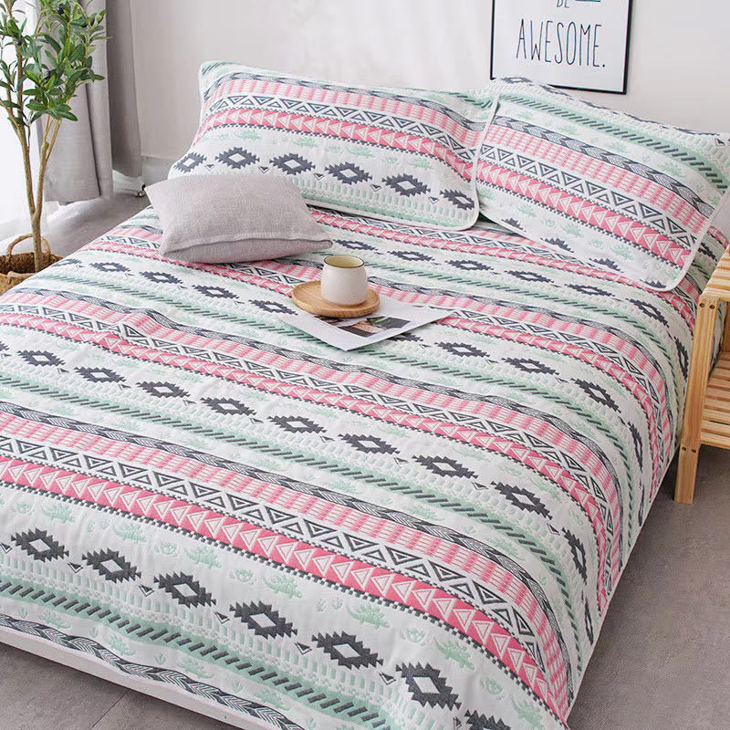Pure cotton gauze blanket air conditioning blanket double-sided blanket for summer bed