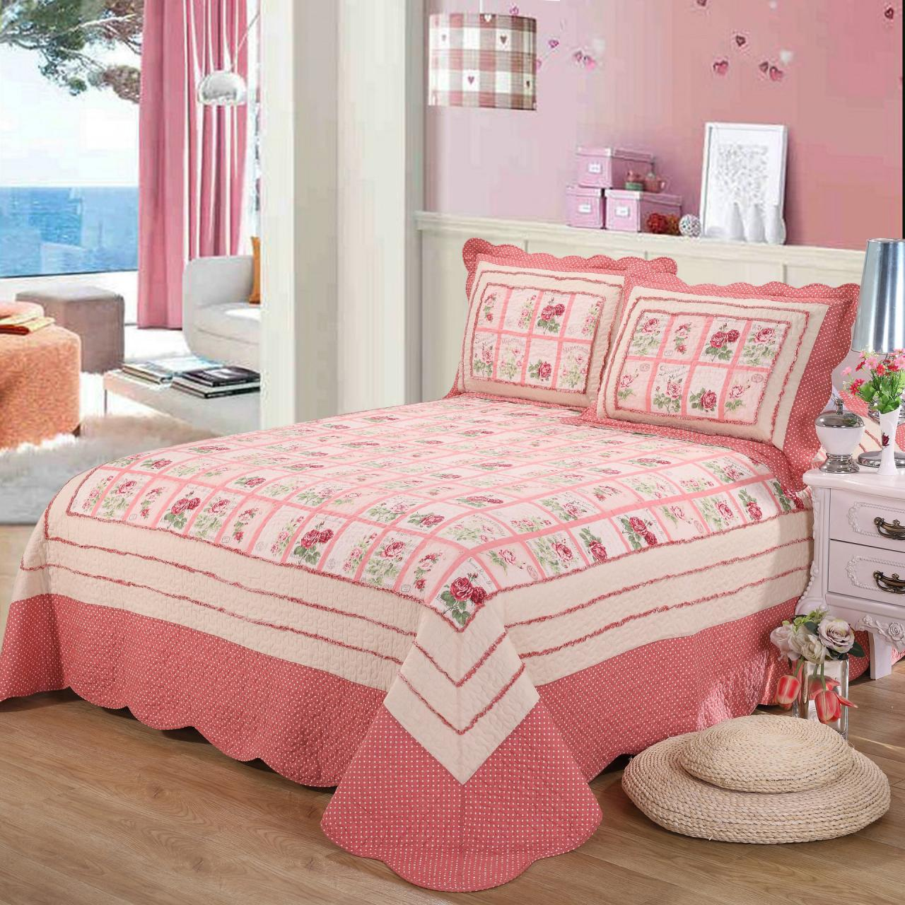 Three-Piece Cotton Bedding Set Quilted Quilt Bed cover