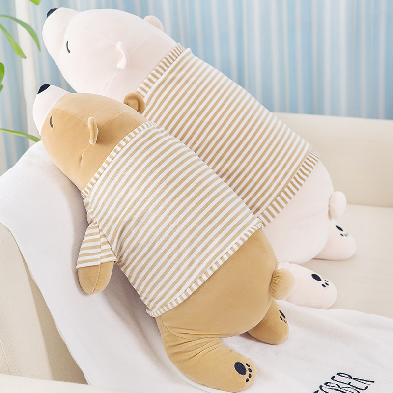 27 Inches Soft Plush Polar Bear Pillow Gift Toy Stuffed Animal Hugging Cute Plush Pet Pillow Decoration for Office Nursery Sofa Bed Chair