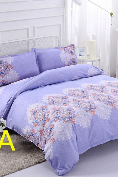 Bedding Set 3-Piece Boho Queen Size Quilt Set/Bedspread- Lightweight, Reversible& Decorative