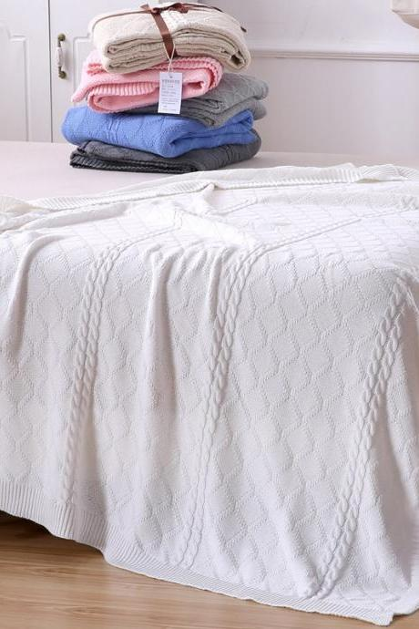 Blanket cotton knit blanket air-conditioned room blanket 59'x78'