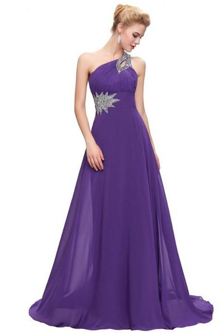 Women's Long Chiffon Bridesmaid Dresses Formal Evening Gowns