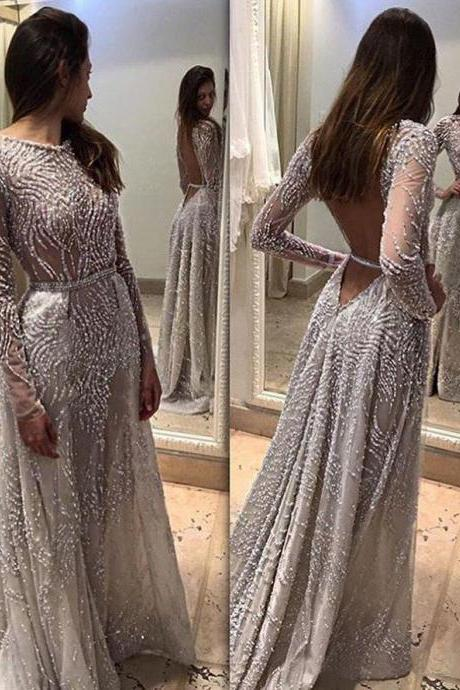 Party dress ball gown long Halter Beaded Cocktail Prom Gowns