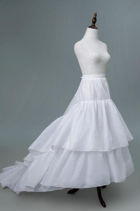 Women's Petticoat Underskirt 3 Hoops Skirt Ball Gown Skirt Trumpet Slip for Wedding Dress