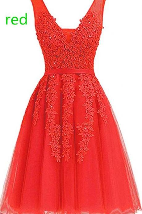 Women's Dress Short Net Bridesmaid Dress s Evening Cocktail Gowns