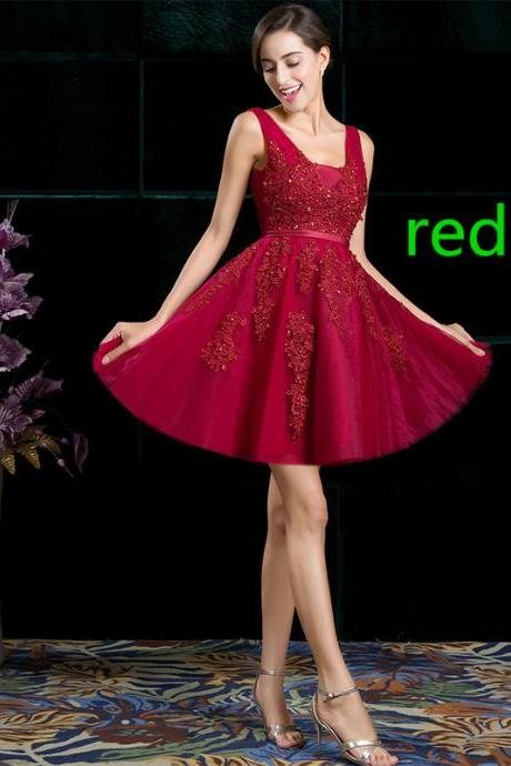 Banquet evening dress thin dance party small dress short paragraph