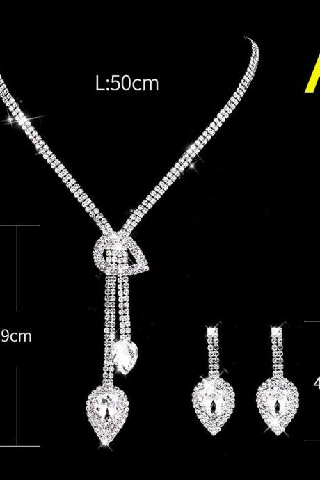 Bridal Wedding Accessories Necklace Earring Set