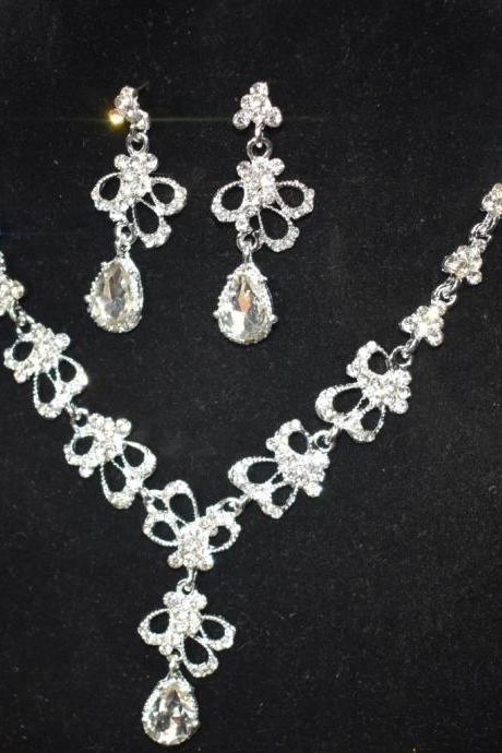 Necklace Bridal Set Ornaments Alloy Crystal Explosion Jewelry Set
