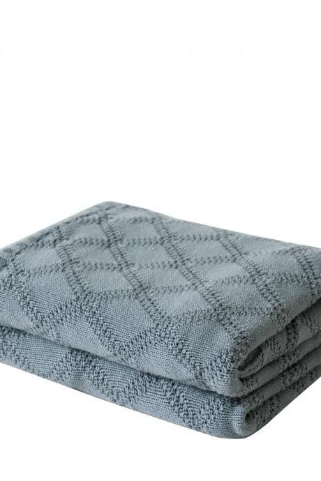 Bedding diamond pattern knit blanket office nap air conditioning blanket Europe and America blanket