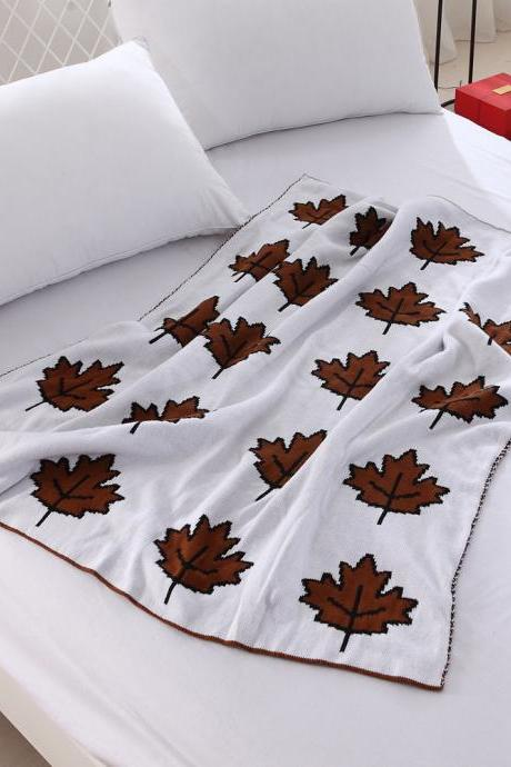 Cotton Maple Knitting Blanket Summer Baby Children's Blanket Office Air Conditioning Blanket Children's Photography Props