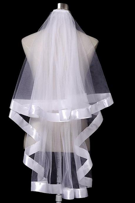 Bridal Veil White Simple Veil