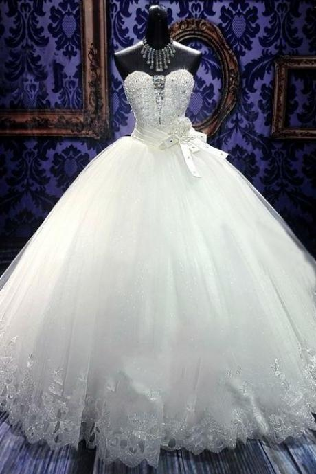 Women's Wedding Dresses Autumn and winter white wedding dress