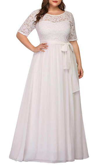 Women Lace Illusion Mother of The Bride Dresses